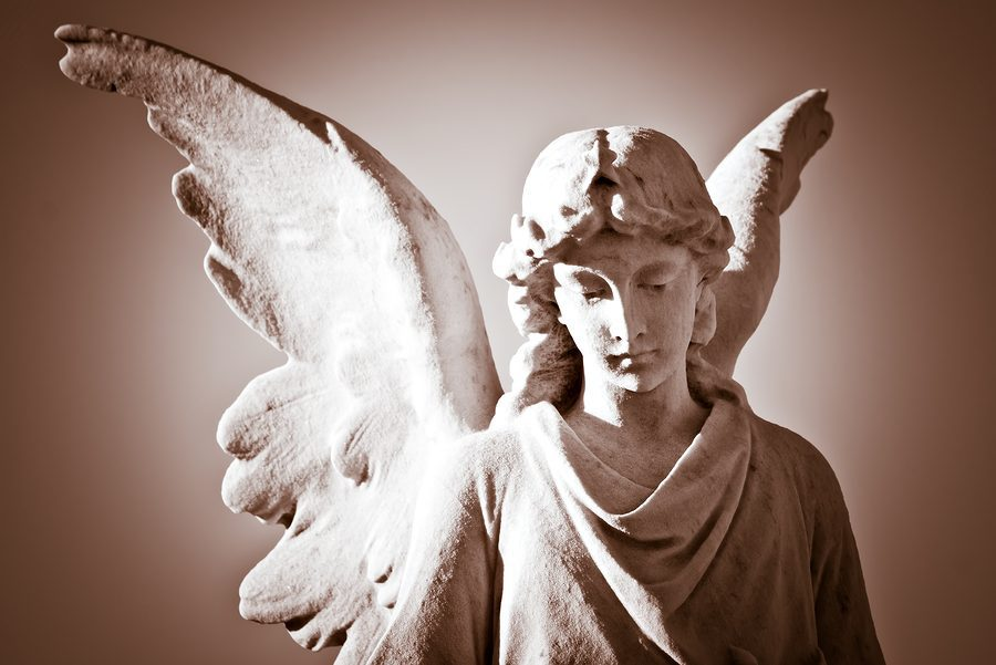 Beautiful angel in sepia