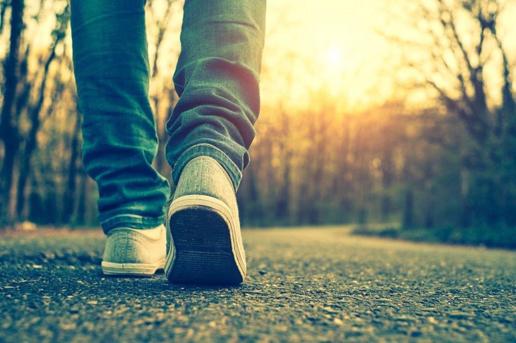 walk quickly